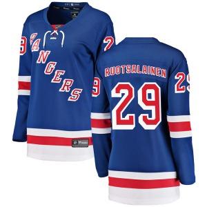 Women's Breakaway New York Rangers Reijo Ruotsalainen Blue Home Official Fanatics Branded Jersey