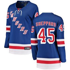 Women's Breakaway New York Rangers James Sheppard Blue Home Official Fanatics Branded Jersey