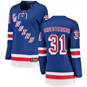 Women's Breakaway New York Rangers Igor Shesterkin Blue Home Official Fanatics Branded Jersey