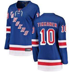 Women's Breakaway New York Rangers Esa Tikkanen Blue Home Official Fanatics Branded Jersey