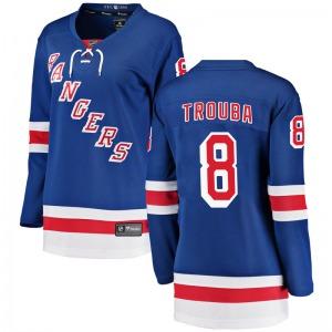 Women's Breakaway New York Rangers Jacob Trouba Blue Home Official Fanatics Branded Jersey