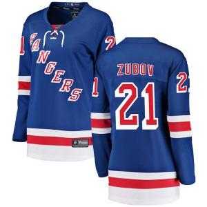 Women's Breakaway New York Rangers Sergei Zubov Blue Home Official Fanatics Branded Jersey