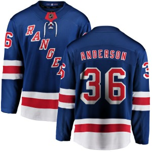 Adult Breakaway New York Rangers Glenn Anderson Blue Home Official Fanatics Branded Jersey