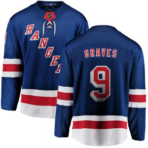 Adult Breakaway New York Rangers Adam Graves Blue Home Official Fanatics Branded Jersey