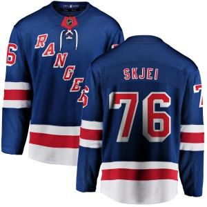 Youth Breakaway New York Rangers Brady Skjei Blue Home Official Fanatics Branded Jersey