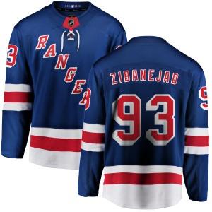 Adult Breakaway New York Rangers Mika Zibanejad Blue Home Official Fanatics Branded Jersey