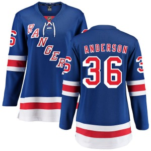 Women's Breakaway New York Rangers Glenn Anderson Blue Home Official Fanatics Branded Jersey