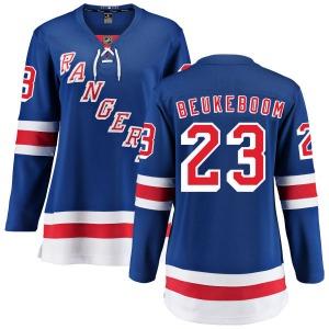 Women's Breakaway New York Rangers Jeff Beukeboom Blue Home Official Fanatics Branded Jersey