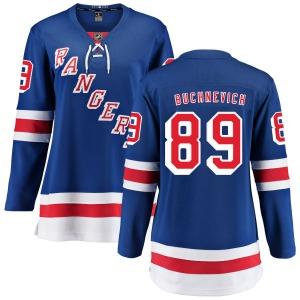 Women's Breakaway New York Rangers Pavel Buchnevich Blue Home Official Fanatics Branded Jersey