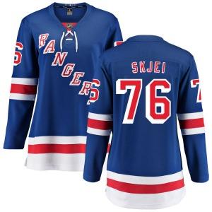 Women's Breakaway New York Rangers Brady Skjei Blue Home Official Fanatics Branded Jersey