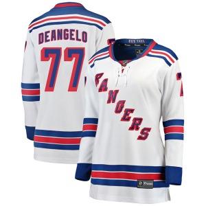 Women's Breakaway New York Rangers Tony DeAngelo White Away Official Fanatics Branded Jersey