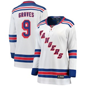 Women's Breakaway New York Rangers Adam Graves White Away Official Fanatics Branded Jersey