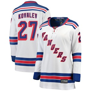 Women's Breakaway New York Rangers Alex Kovalev White Away Official Fanatics Branded Jersey