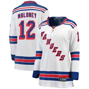 Women's Breakaway New York Rangers Don Maloney White Away Official Fanatics Branded Jersey