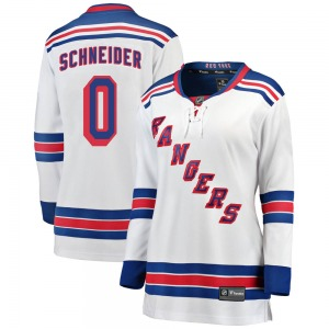 Women's Breakaway New York Rangers Braden Schneider White Away Official Fanatics Branded Jersey