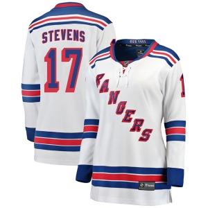 Women's Breakaway New York Rangers Kevin Stevens White Away Official Fanatics Branded Jersey
