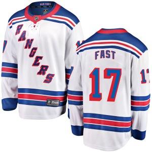 Adult Breakaway New York Rangers Jesper Fast White Away Official Fanatics Branded Jersey