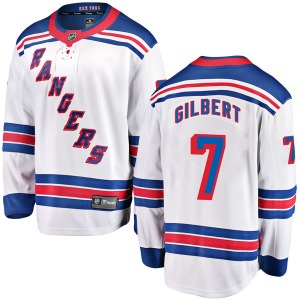 Adult Breakaway New York Rangers Rod Gilbert White Away Official Fanatics Branded Jersey