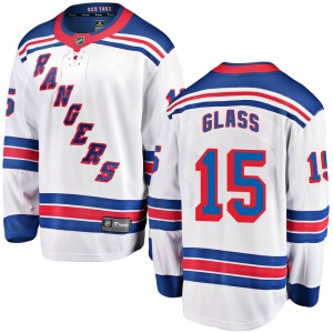 Adult Breakaway New York Rangers Tanner Glass White Away Official Fanatics Branded Jersey