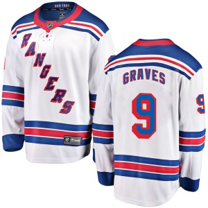 Adult Breakaway New York Rangers Adam Graves White Away Official Fanatics Branded Jersey