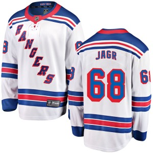 Adult Breakaway New York Rangers Jaromir Jagr White Away Official Fanatics Branded Jersey