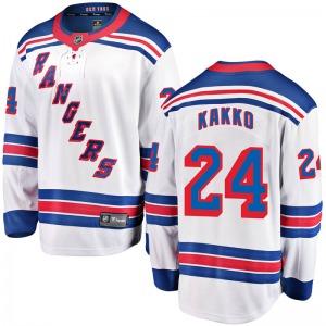 Adult Breakaway New York Rangers Kaapo Kakko White Away Official Fanatics Branded Jersey