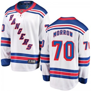 Adult Breakaway New York Rangers Joe Morrow White Away Official Fanatics Branded Jersey