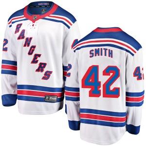 Adult Breakaway New York Rangers Brendan Smith White Away Official Fanatics Branded Jersey