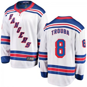 Adult Breakaway New York Rangers Jacob Trouba White Away Official Fanatics Branded Jersey