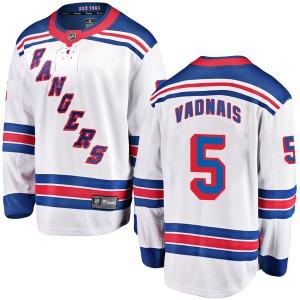 Adult Breakaway New York Rangers Carol Vadnais White Away Official Fanatics Branded Jersey