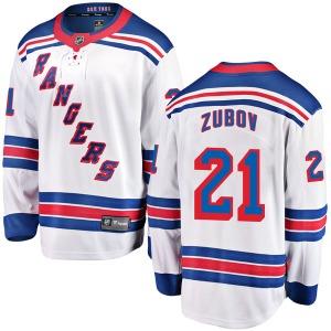 Adult Breakaway New York Rangers Sergei Zubov White Away Official Fanatics Branded Jersey