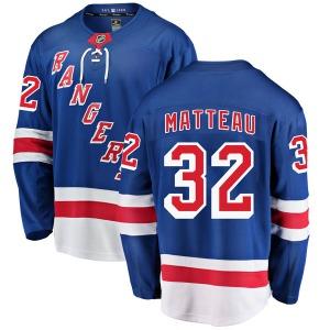 Adult Breakaway New York Rangers Stephane Matteau Blue Home Official Fanatics Branded Jersey
