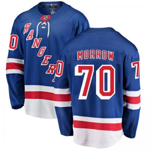 Adult Breakaway New York Rangers Joe Morrow Blue Home Official Fanatics Branded Jersey