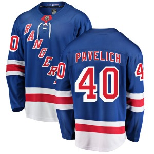 Adult Breakaway New York Rangers Mark Pavelich Blue Home Official Fanatics Branded Jersey
