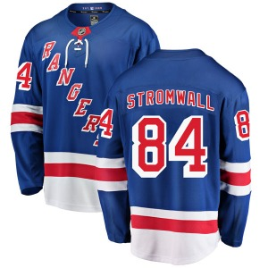 Adult Breakaway New York Rangers Malte Stromwall Blue Home Official Fanatics Branded Jersey