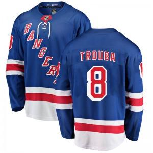 Adult Breakaway New York Rangers Jacob Trouba Blue Home Official Fanatics Branded Jersey