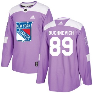 Adult Authentic New York Rangers Pavel Buchnevich Purple Fights Cancer Practice Official Adidas Jersey