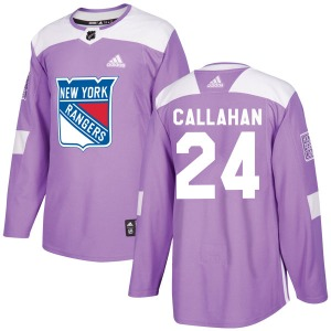 Adult Authentic New York Rangers Ryan Callahan Purple Fights Cancer Practice Official Adidas Jersey