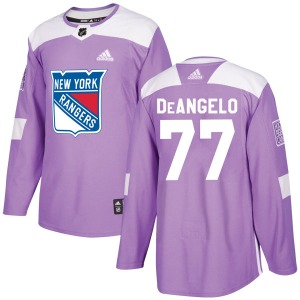 Adult Authentic New York Rangers Tony DeAngelo Purple Fights Cancer Practice Official Adidas Jersey