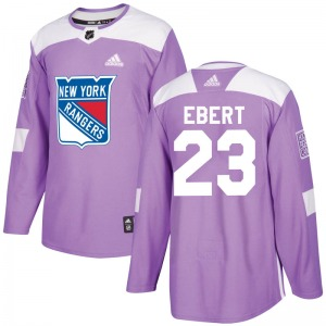 Adult Authentic New York Rangers Nick Ebert Purple Fights Cancer Practice Official Adidas Jersey