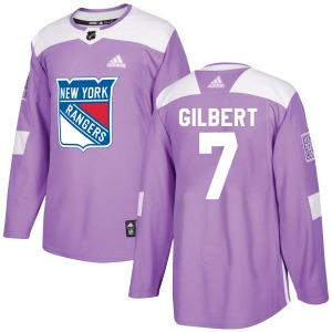 Adult Authentic New York Rangers Rod Gilbert Purple Fights Cancer Practice Official Adidas Jersey