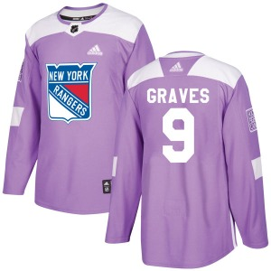 Adult Authentic New York Rangers Adam Graves Purple Fights Cancer Practice Official Adidas Jersey