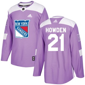 Adult Authentic New York Rangers Brett Howden Purple Fights Cancer Practice Official Adidas Jersey