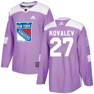 Adult Authentic New York Rangers Alex Kovalev Purple Fights Cancer Practice Official Adidas Jersey