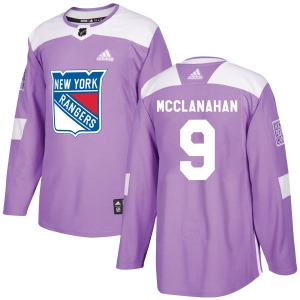 Adult Authentic New York Rangers Rob Mcclanahan Purple Fights Cancer Practice Official Adidas Jersey