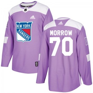 Adult Authentic New York Rangers Joe Morrow Purple Fights Cancer Practice Official Adidas Jersey