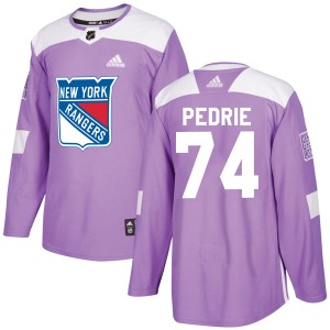 Adult Authentic New York Rangers Vince Pedrie Purple Fights Cancer Practice Official Adidas Jersey