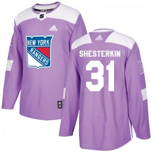 Adult Authentic New York Rangers Igor Shesterkin Purple Fights Cancer Practice Official Adidas Jersey