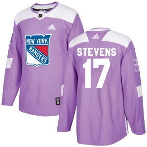Adult Authentic New York Rangers Kevin Stevens Purple Fights Cancer Practice Official Adidas Jersey
