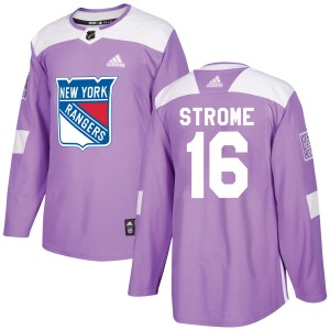 Adult Authentic New York Rangers Ryan Strome Purple Fights Cancer Practice Official Adidas Jersey